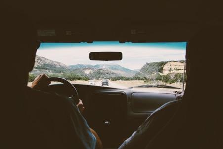 Rijdend naar Portugal